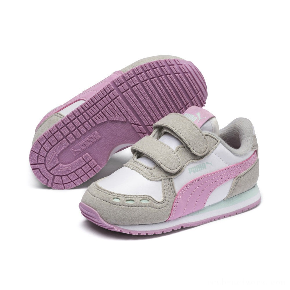 Puma Cabana Racer SL Sneakers INF White-Gray Violet Outlet Sale
