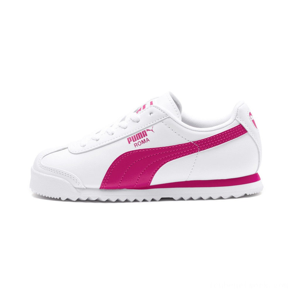Black Friday 2020 Puma Roma Basic Sneakers JRwhite-fuchsia purple Outlet Sale