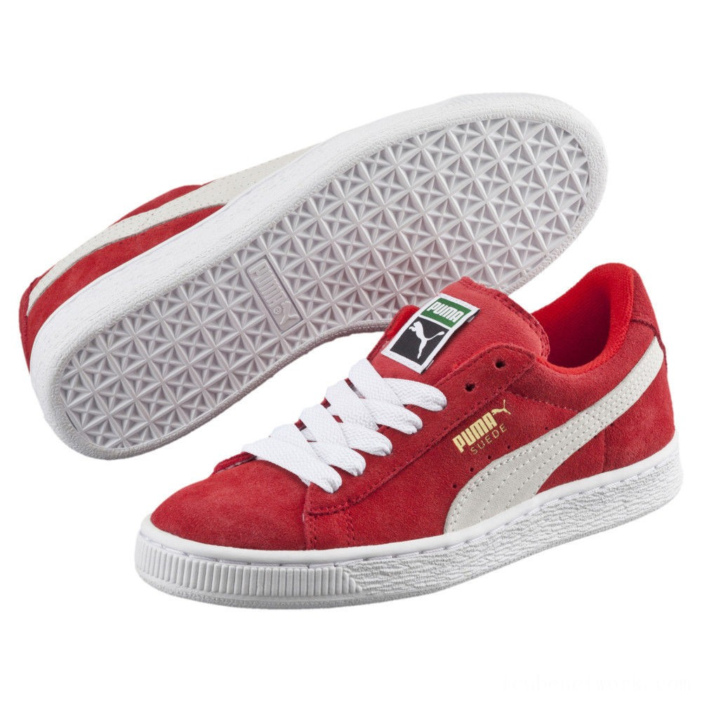 Puma Suede Jrhigh risk red-white Outlet Sale