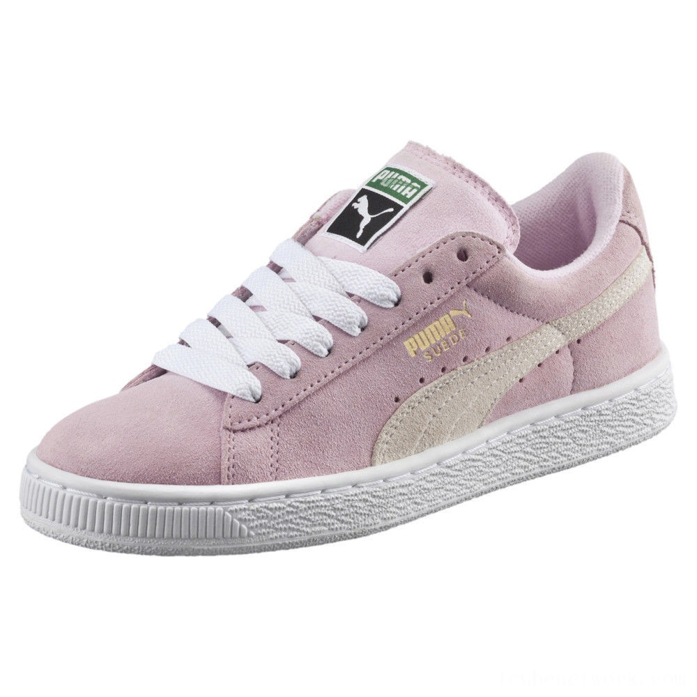 Puma Suede Jrpink lady-white-team gold Outlet Sale