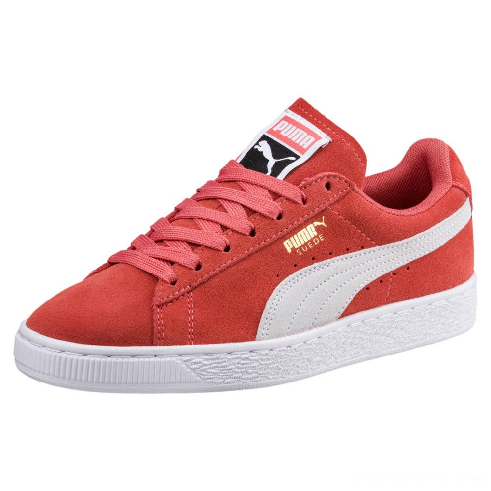 Black Friday 2020 Puma Suede Classic Women's Sneakers Spiced Coral- White Outlet Sale