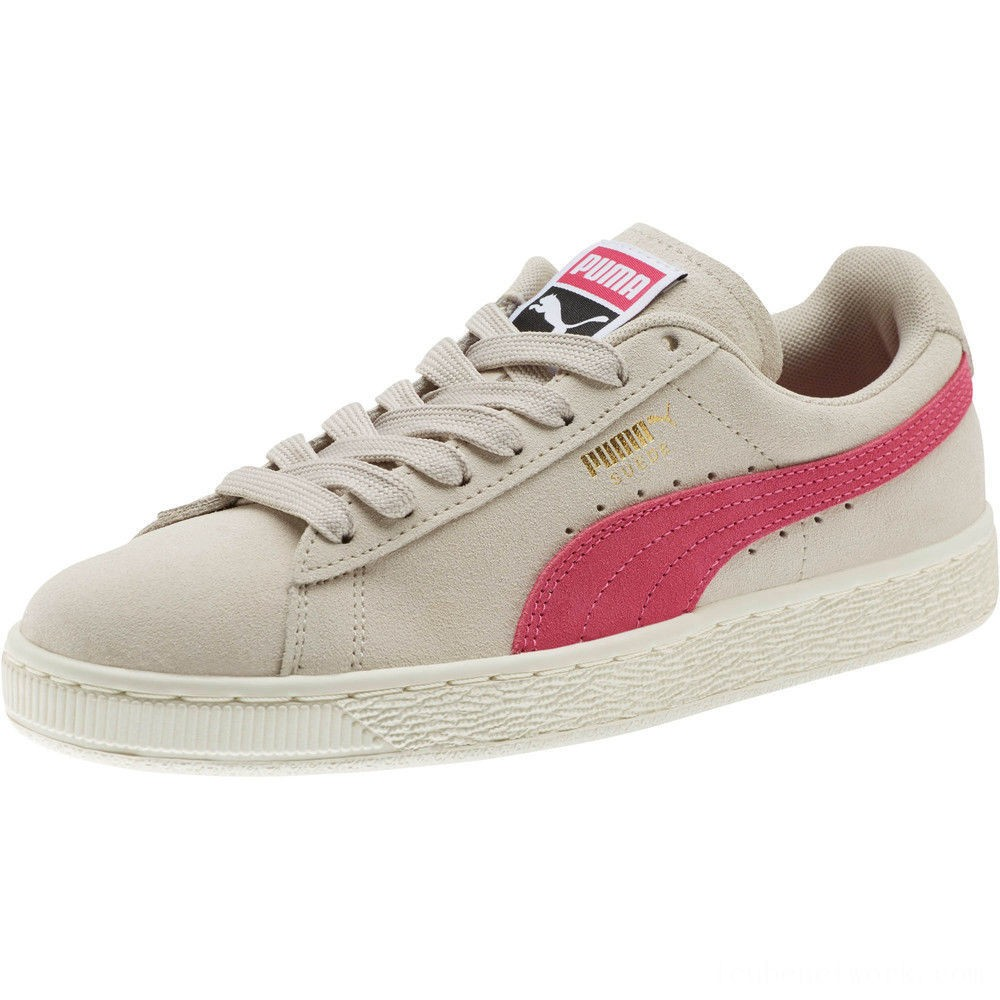 Black Friday 2020 Puma Suede Classic Women's Sneakers Silver Gray-Fuchsia Purple Outlet Sale
