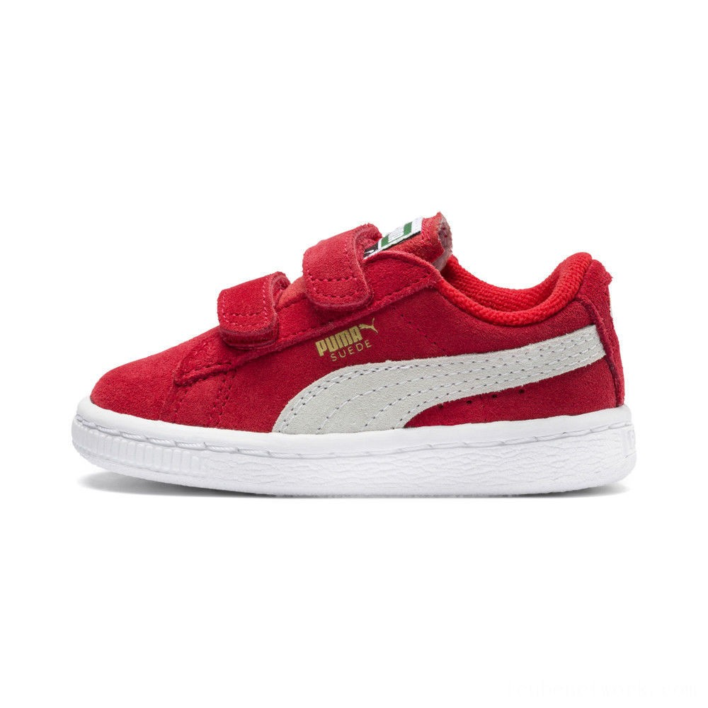Black Friday 2020 Puma Suede 2 straps Infanthigh risk red-white Outlet Sale
