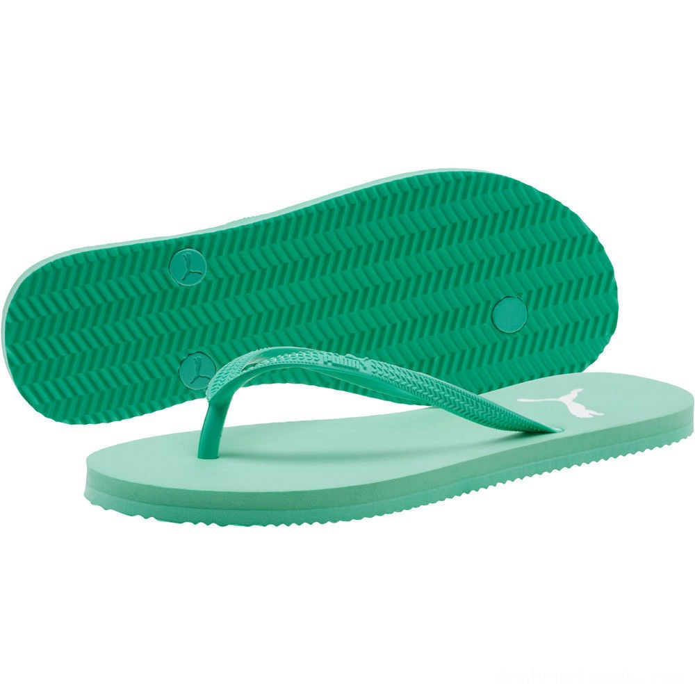Black Friday 2020 Puma First Flip Women's Sandals Biscay Green- White Outlet Sale