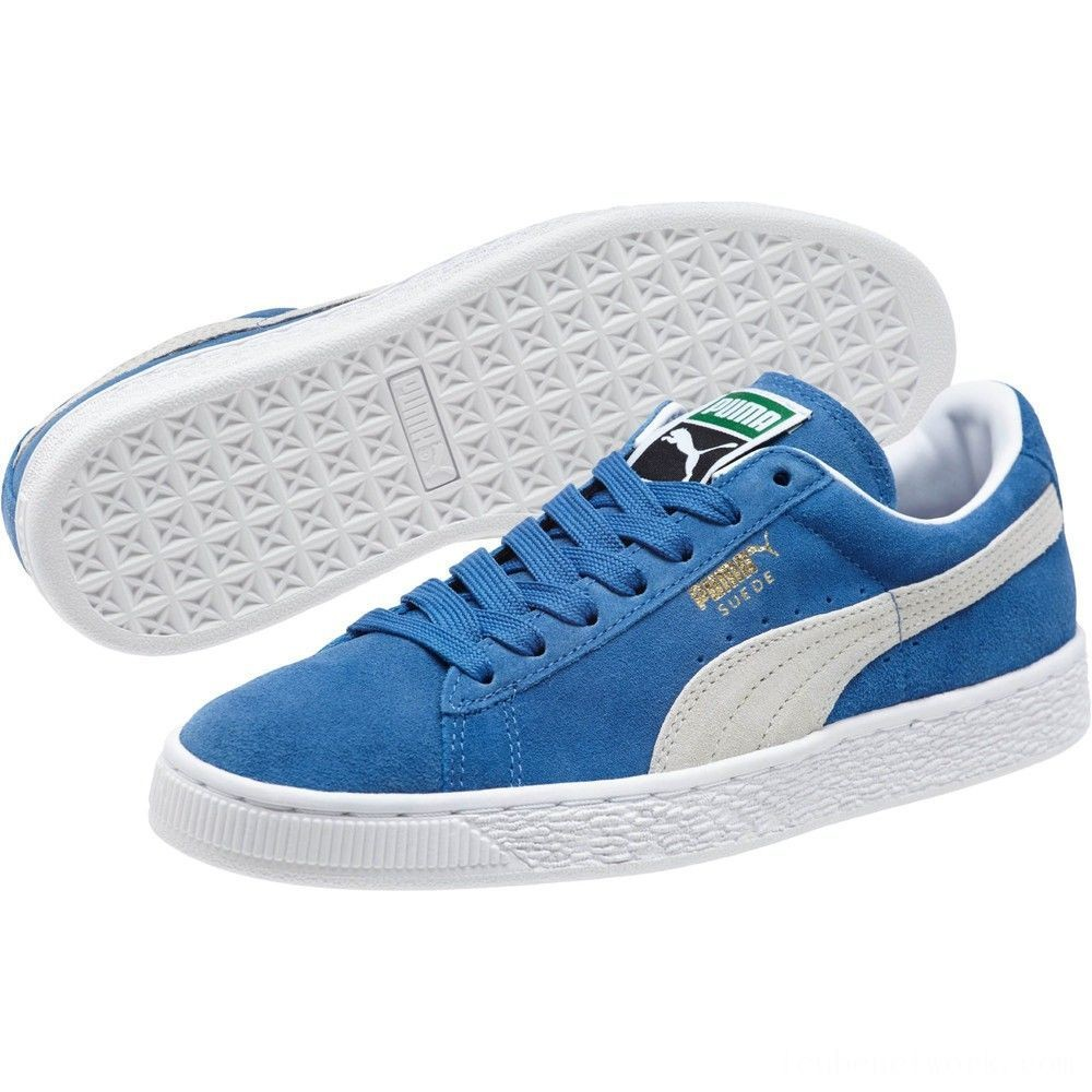 Black Friday 2020 Puma Suede Classic + Women's Sneakers olympian blue-white Outlet Sale