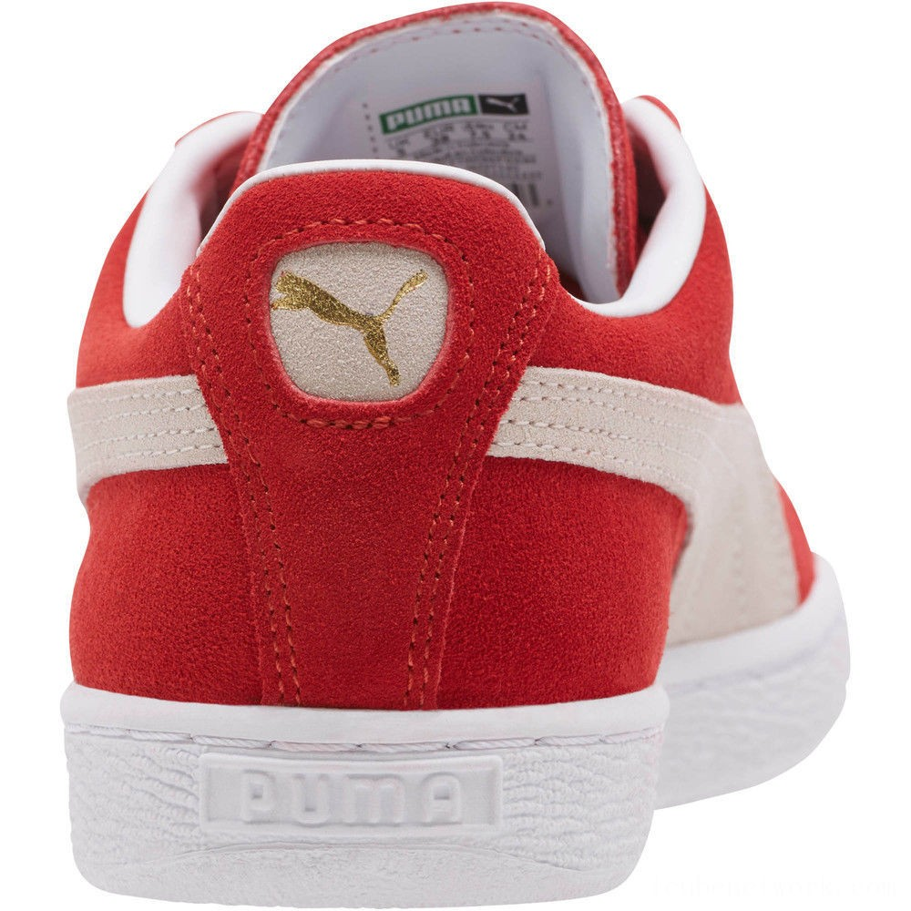 Puma Suede Classic + Women's Sneakers high risk red-white Outlet Sale