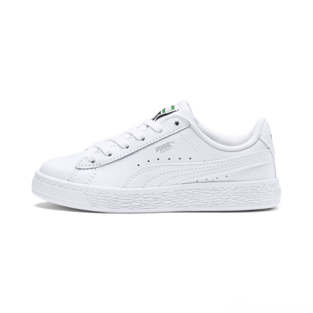 Black Friday 2020 Puma Basket Classic Kids' Sneakers White- White Outlet Sale