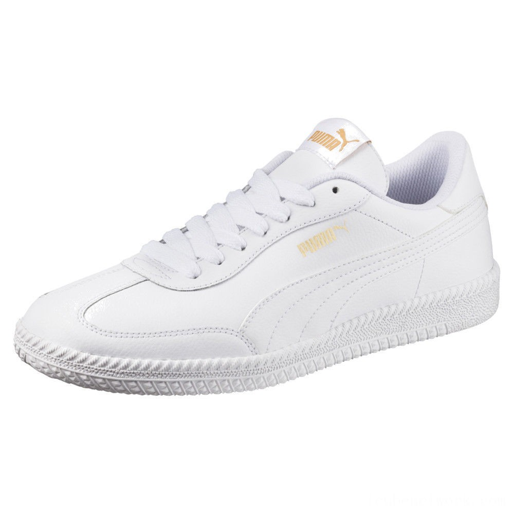 Puma Astro Cup Leather Trainers White- White Outlet Sale
