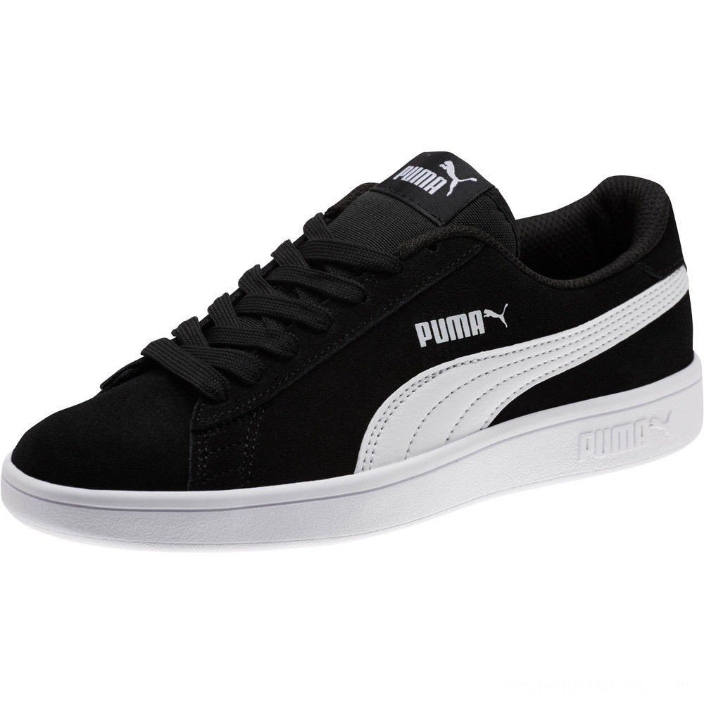 Black Friday 2020 Puma Smash v2 Suede JR Sneakers Black- White Outlet Sale