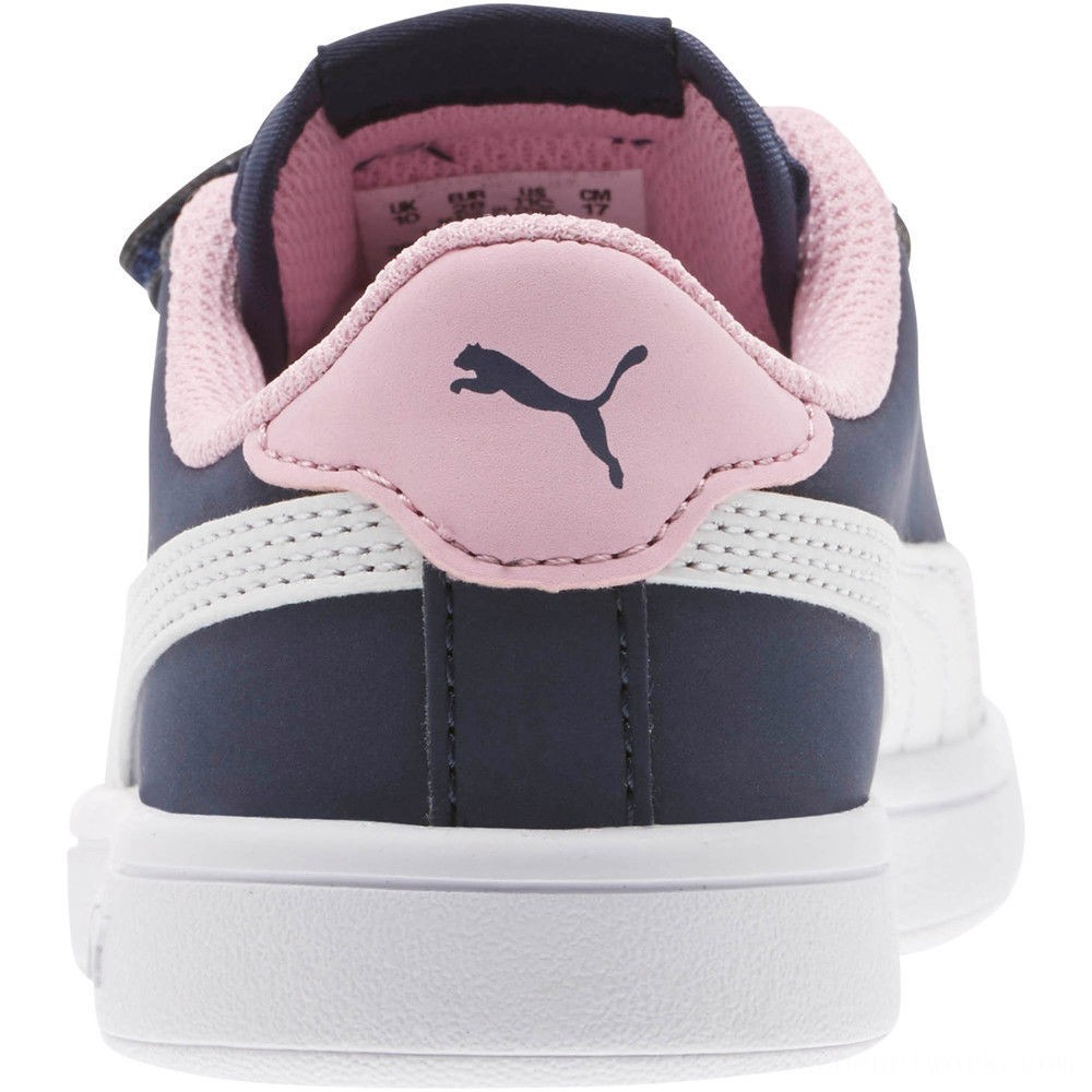 Black Friday 2020 Puma PUMA Smash v2 Buck AC Sneakers PSPeacoat- White-Pale Pink Outlet Sale