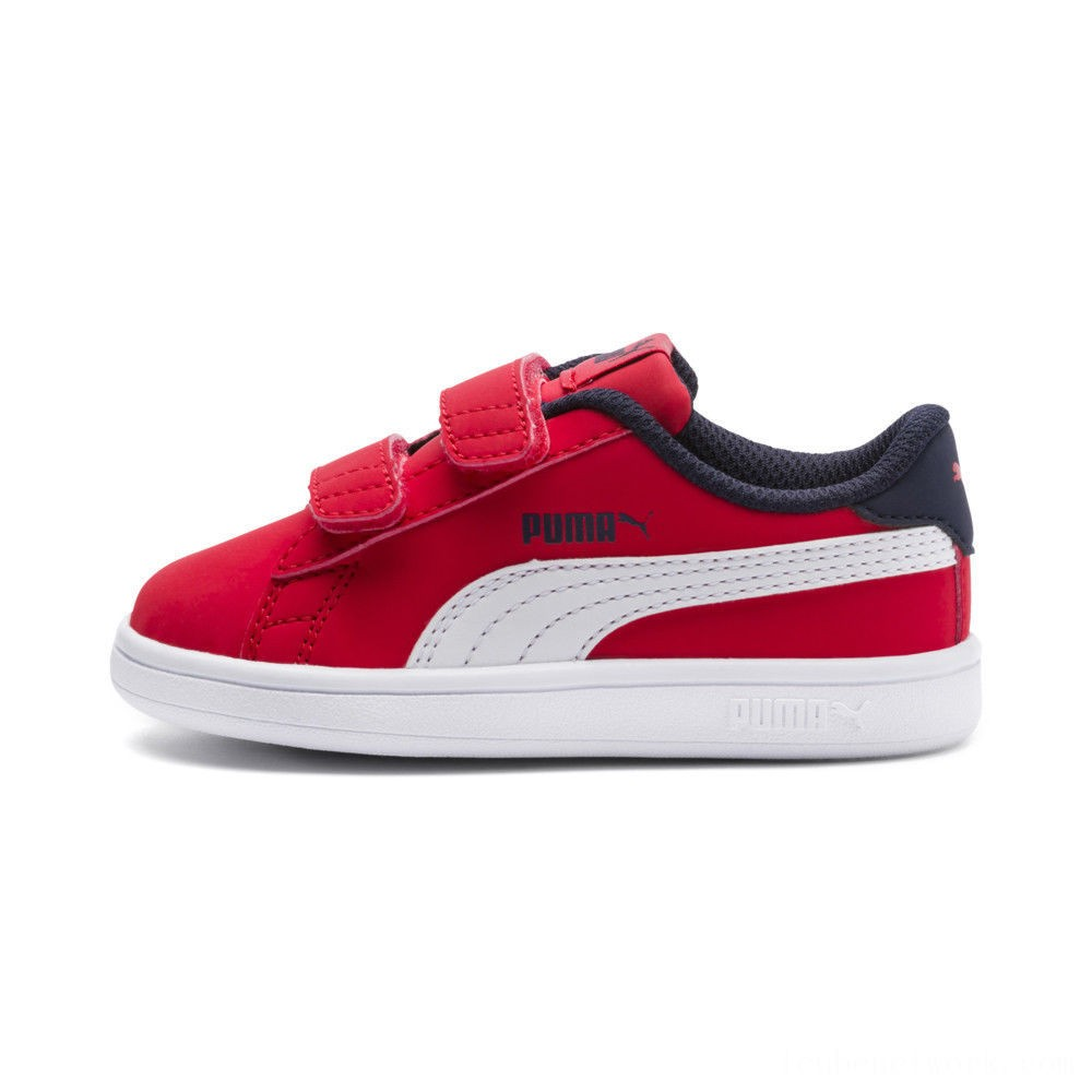 Black Friday 2020 Puma PUMA Smash v2 Buck Sneakers INFHigh Risk Red- White Outlet Sale