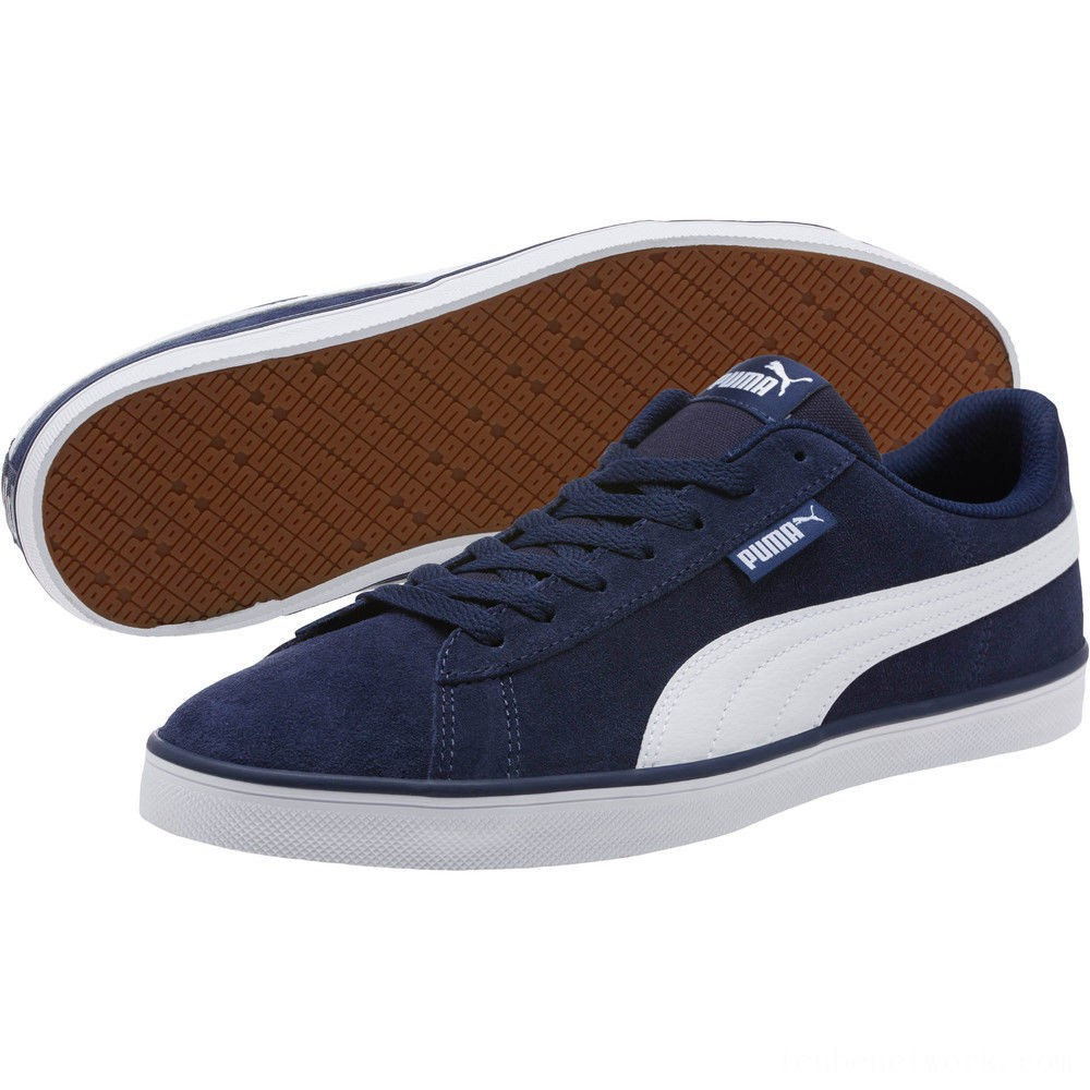 Black Friday 2020 Puma Urban Plus Suede Sneakers Peacoat- White Outlet Sale
