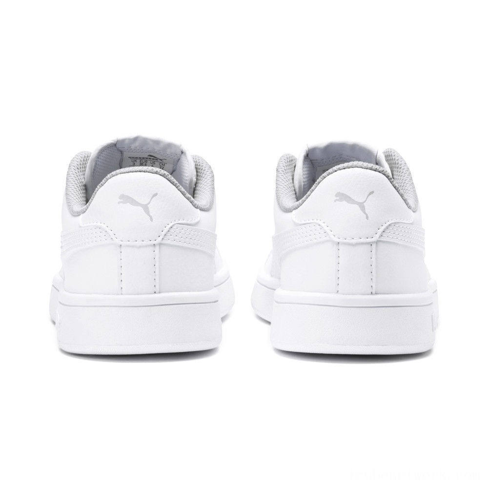 Puma PUMA Smash v2 Leather Sneakers PS White- White Outlet Sale