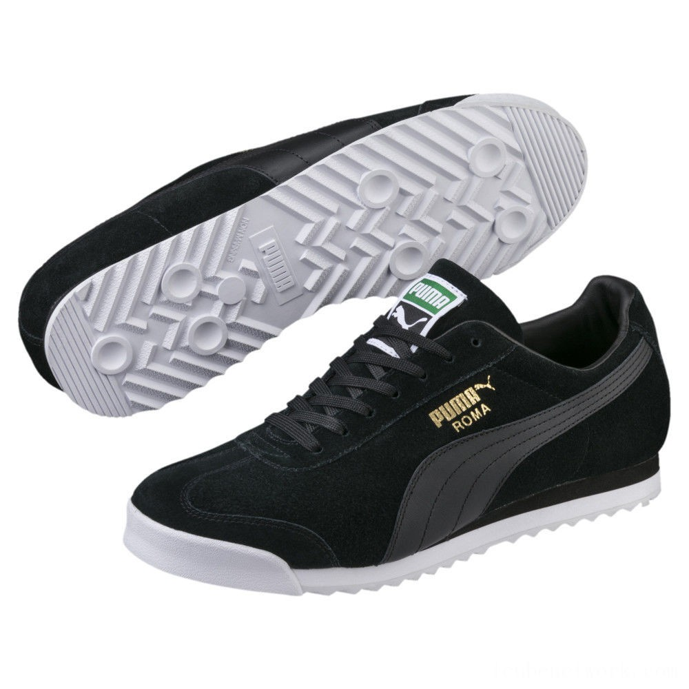 Puma Roma Suede Sneakers Black- Black Outlet Sale