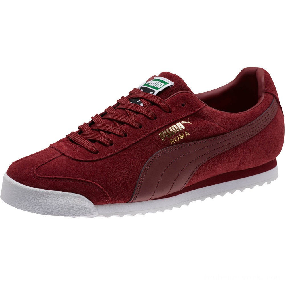 Black Friday 2020 Puma Roma Suede Sneakers Pomegranate-Pomegranate Outlet Sale