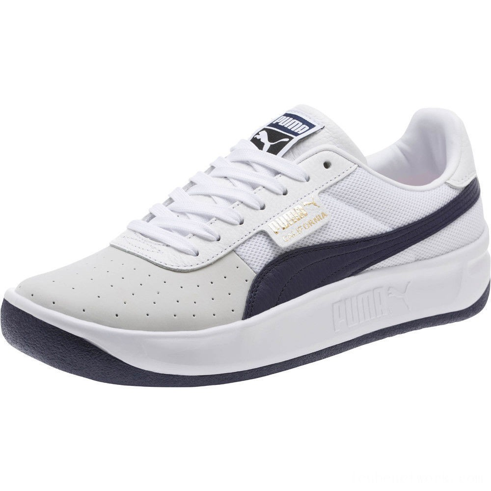Black Friday 2020 Puma California Casual Sneakers P White-Peacoat-P White Outlet Sale