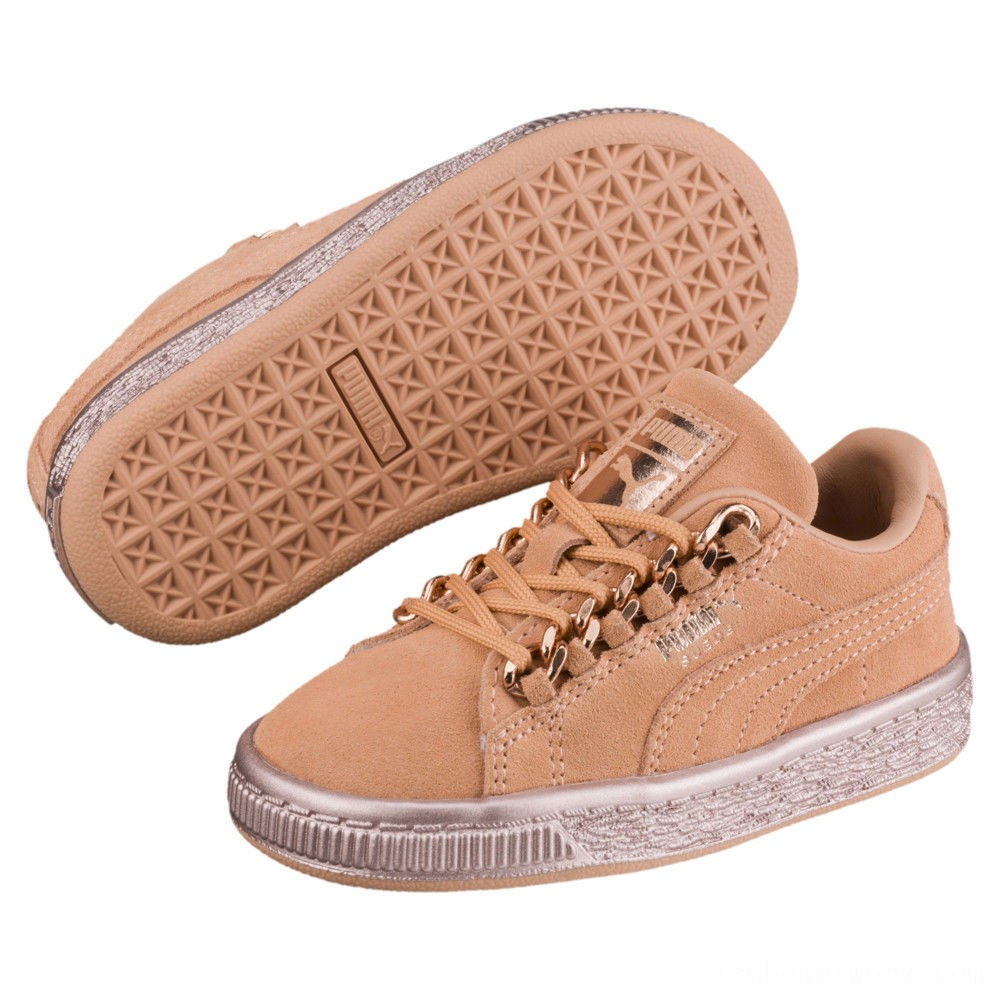 Black Friday 2020 Puma Suede Classic X-Chain Preschool Sneakers Dusty Coral-Rose Gold Outlet Sale