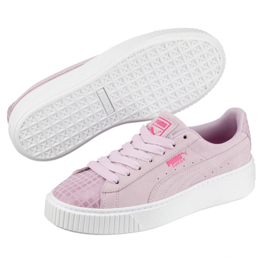Black Friday 2020 Puma Suede Platform Street 2 Women's Sneakers Winsome Orchid Outlet Sale