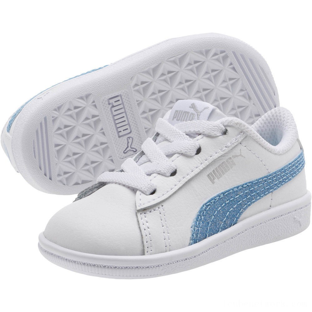 Puma Puma Vikky Glitz FS AC Infant Sneakers White-CERULEAN-Silver Outlet Sale