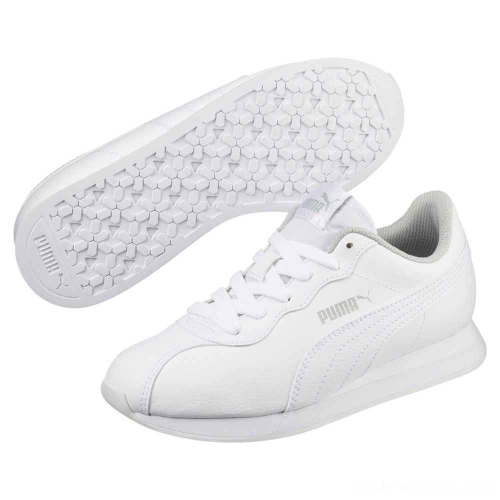 Puma Turin II JR Sneakers White- White Outlet Sale