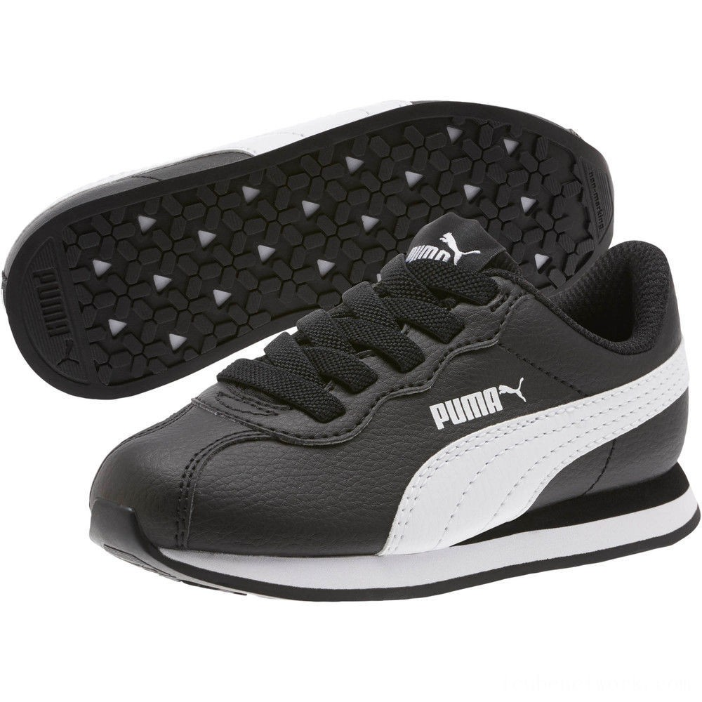 Black Friday 2020 Puma Turin II AC Preschool Sneakers Black- White Outlet Sale