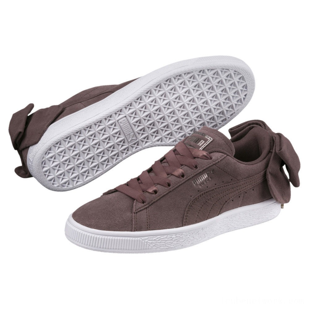 Black Friday 2020 Puma Suede Bow Women's Sneakers Peppercorn-Peppercorn Outlet Sale