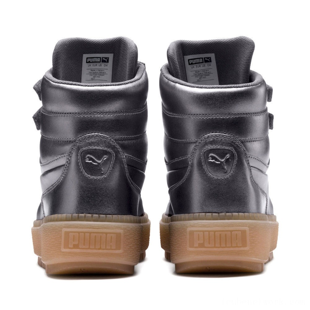 Black Friday 2020 Puma Platform Trace STMT Luxe Women's Sneakers QUIET SHADE-QUIET SHADE Outlet Sale