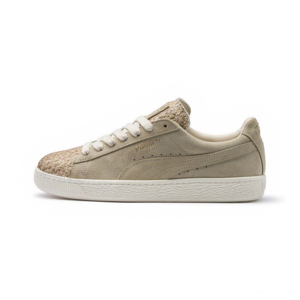 Black Friday 2020 Puma Suede Made in Italy Women's Sneakers Birch- Team Gold Outlet Sale
