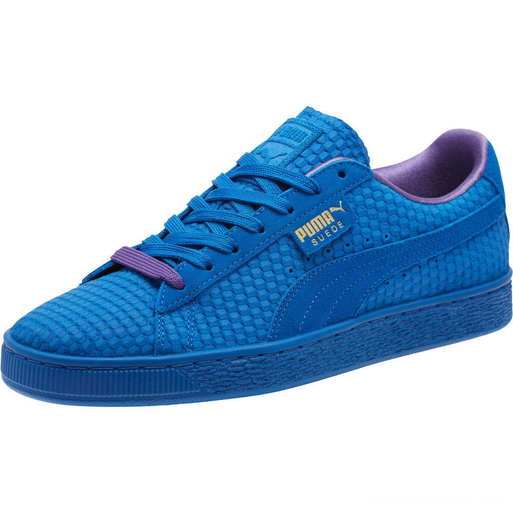 Puma Suede Classic Archive AOP Sneakers Royal- Team Gold Outlet Sale