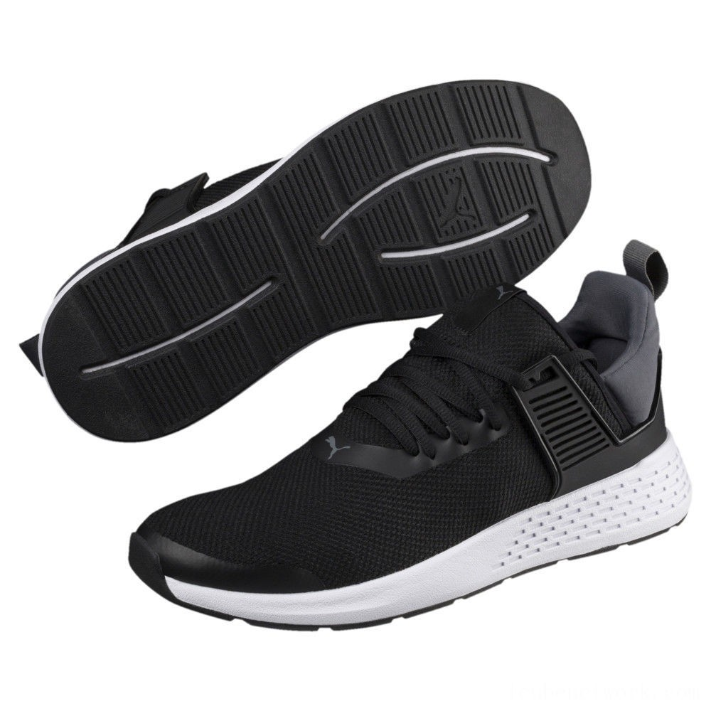 Black Friday 2020 Puma Insurge Mesh Sneakers Black-Iron Gate-White Outlet Sale