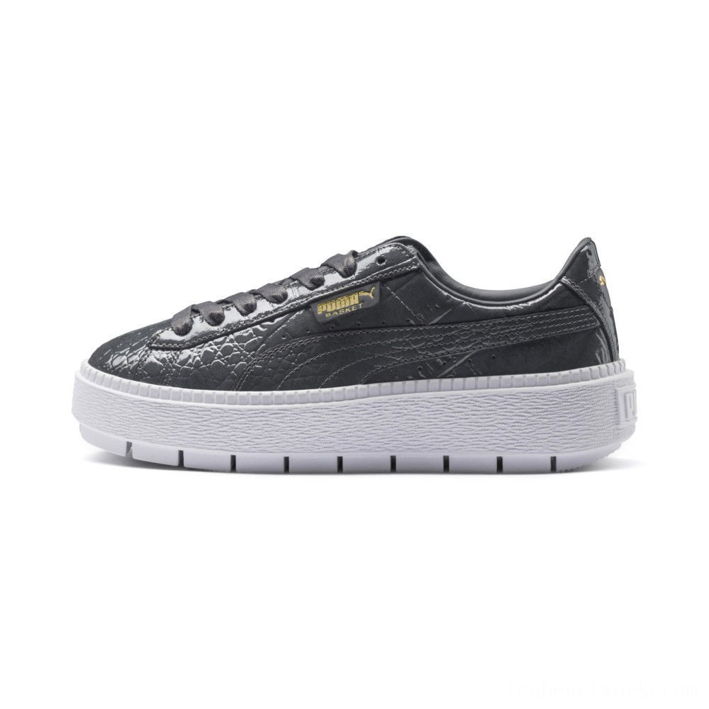 Black Friday 2020 Puma Platform Trace Exotic Lux Women's Sneakers Iron Gate-Iron Gate Outlet Sale