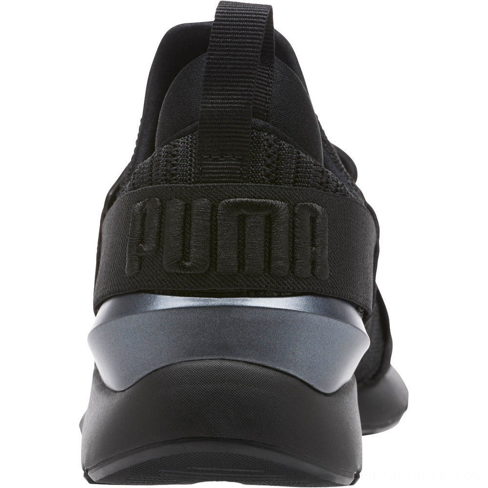 Black Friday 2020 Puma Muse Knit Women's Sneakers Iron Gate- Black Outlet Sale