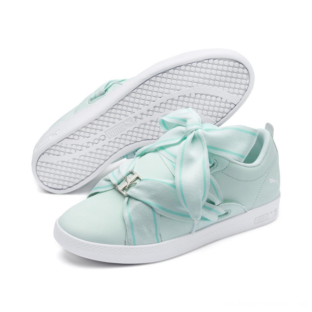 Puma PUMA Smash Women's Buckle Sneakers Fair Aqua- White Outlet Sale
