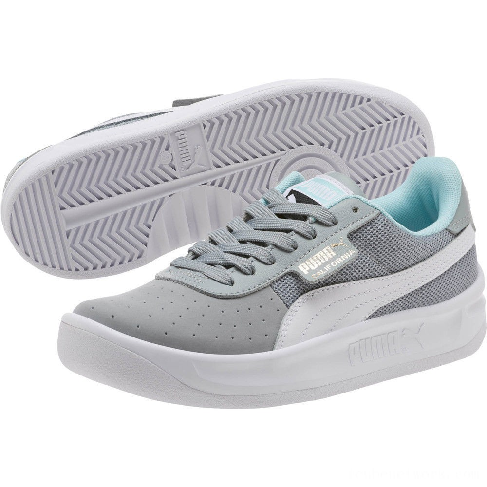Black Friday 2020 Puma California Casual Sneakers JRQuarry- White- Gold Outlet Sale