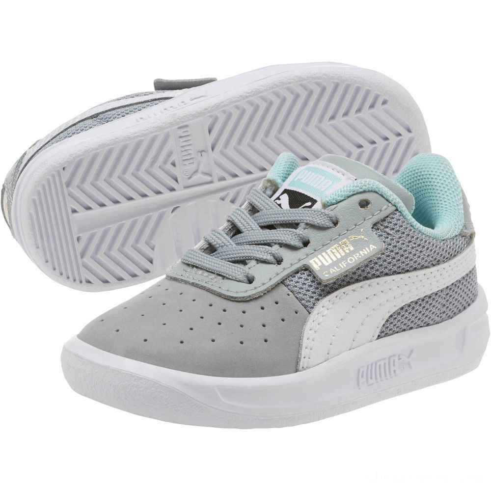 Black Friday 2020 Puma California Casual Sneakers INFQuarry- White-Gold Outlet Sale