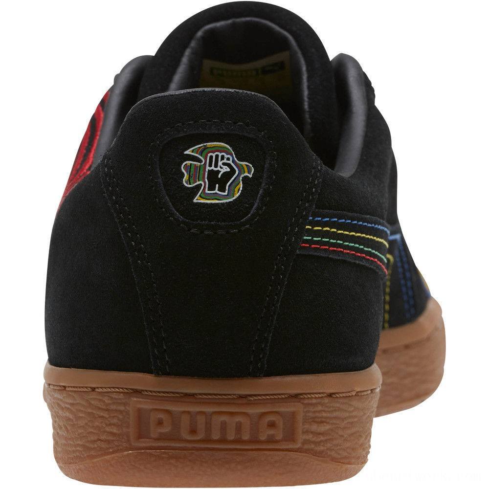 Puma PUMA x Power Through Peace Americas Suede Sneakers Black-Flame Scarlet Outlet Sale