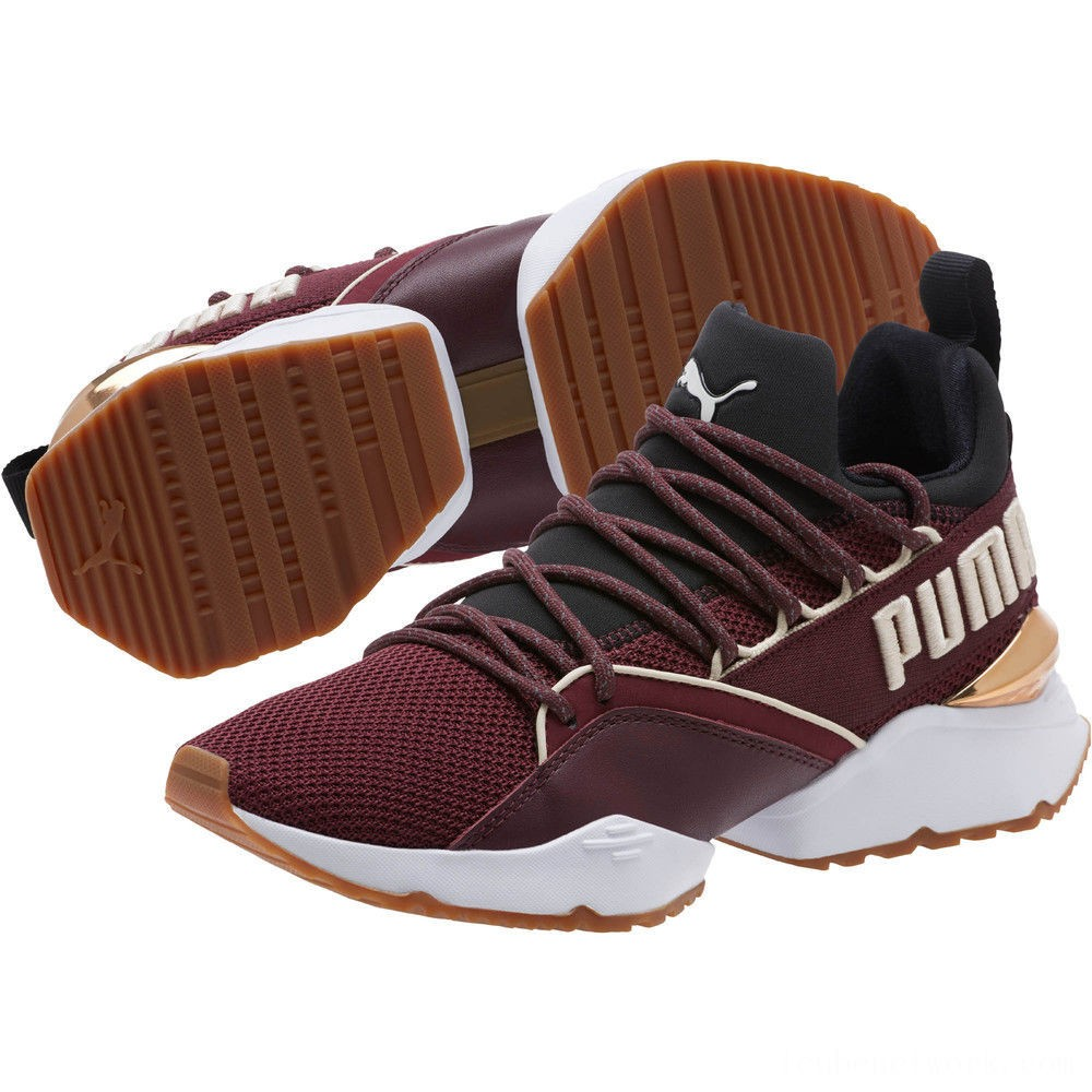 Black Friday 2020 Puma Muse Maia Smet Women's Sneakers Fig- Black-Birch Outlet Sale