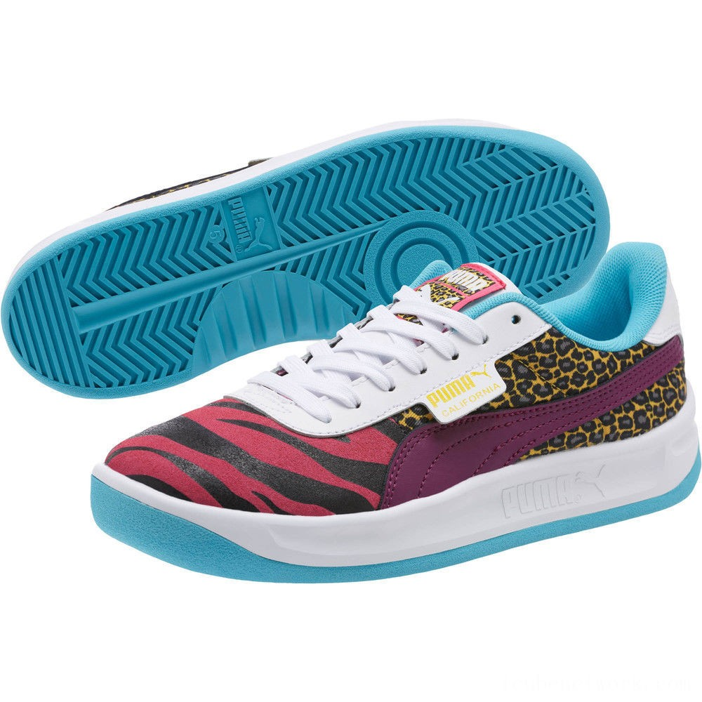 Puma California Animal Women's Sneakers Beetroot Purple-Phlox- White Outlet Sale