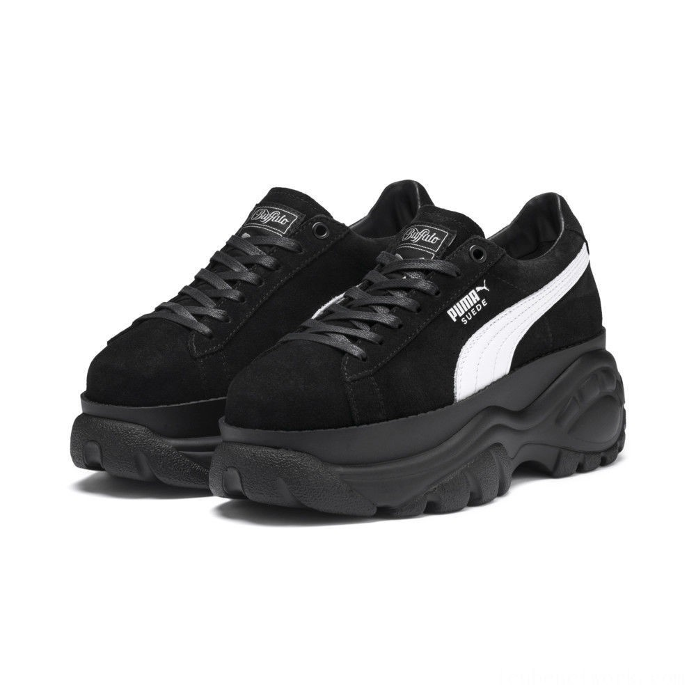 Black Friday 2020 Puma PUMA x Buffalo Suede Women's Sneakers Black- Black Outlet Sale