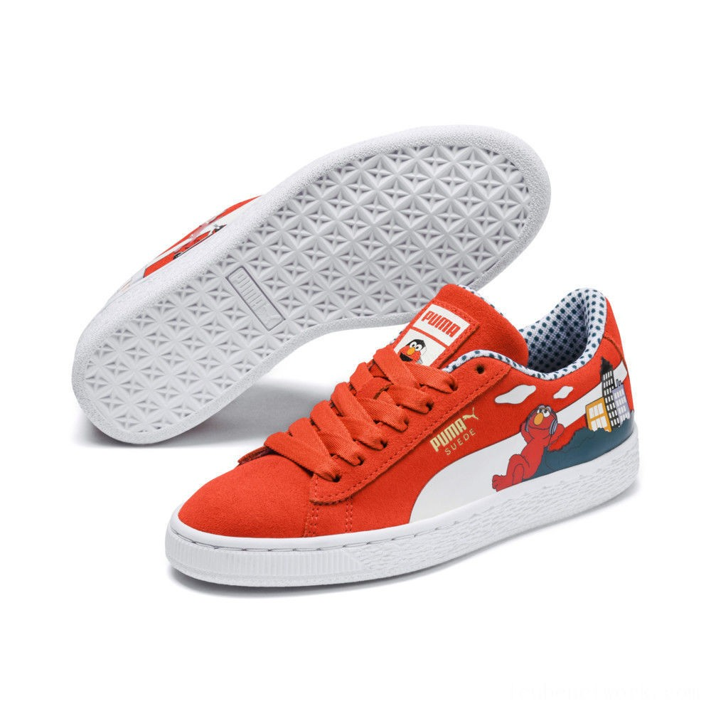 Black Friday 2020 Puma Sesame Street 50 Suede Sneakers JRCherry Tomato- White Outlet Sale