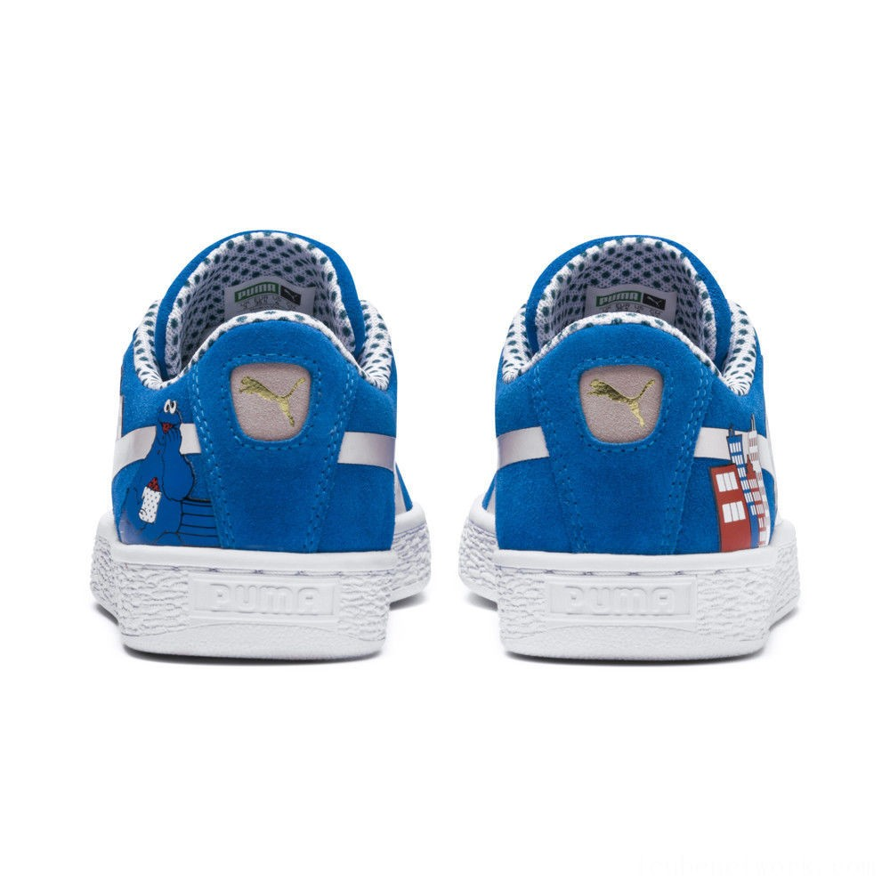 Puma Sesame Street 50 Suede Sneakers PSIndigo Bunting-Veiled Rose Outlet Sale