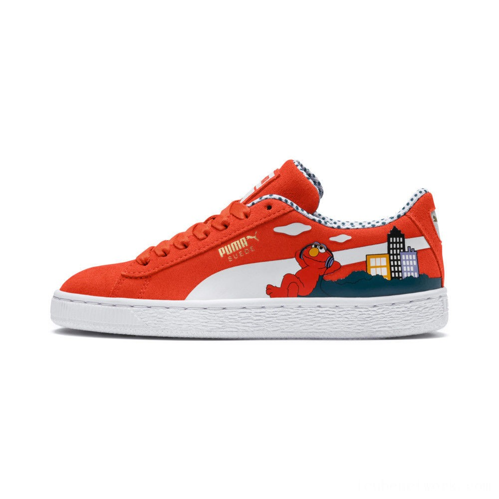 Black Friday 2020 Puma Sesame Street 50 Suede Sneakers PSCherry Tomato- White Outlet Sale