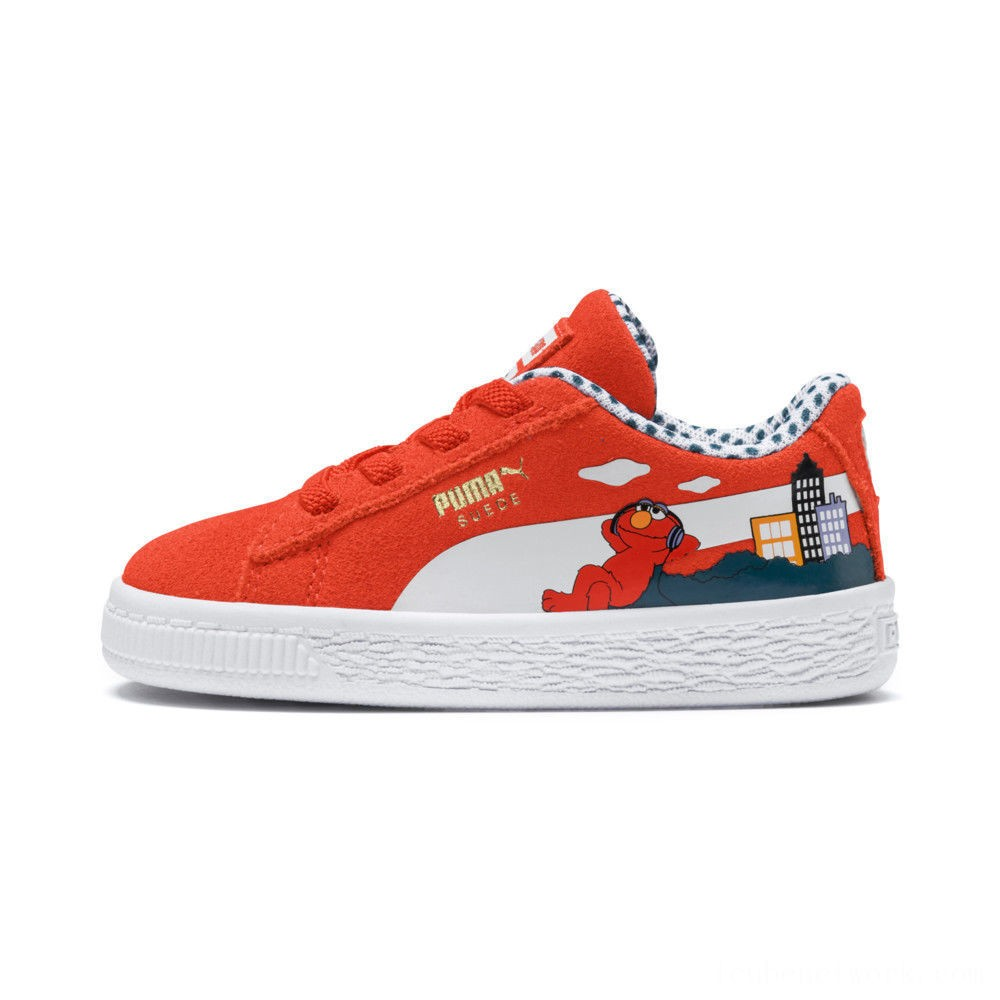 Puma Sesame Street 50 Suede Sneakers INFCherry Tomato- White Outlet Sale