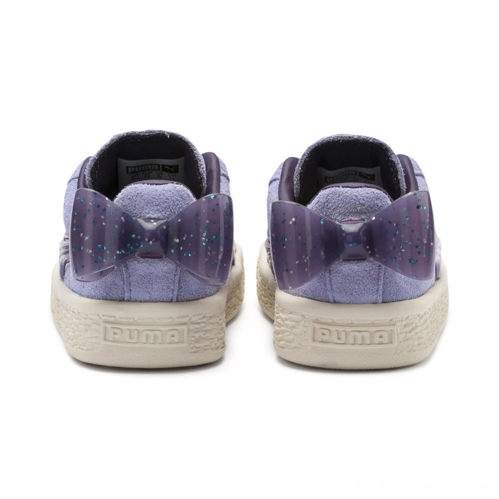 Black Friday 2020 Puma Suede Jelly Bow AC Sneakers PSSweetLavender-Indigo-White Outlet Sale
