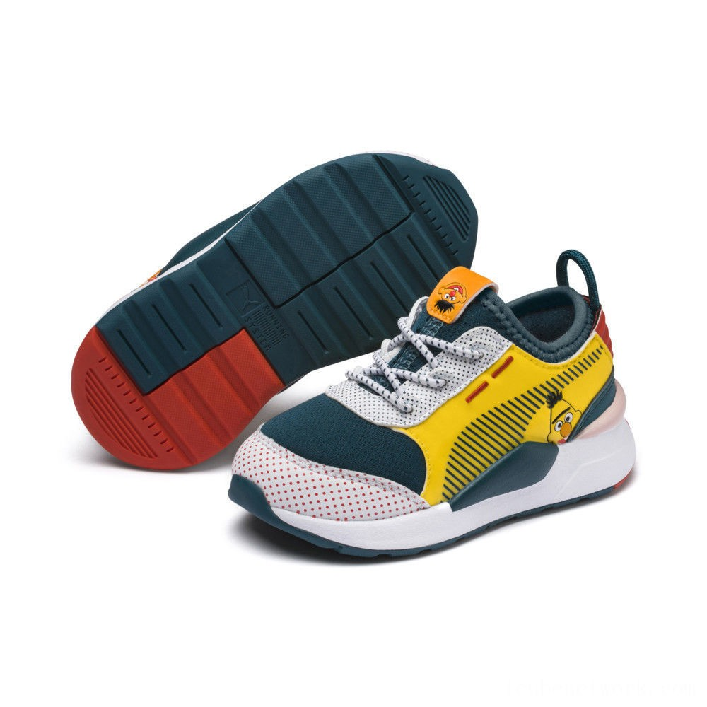 Puma Sesame Street 50 RS-0 AC Sneakers INFRose-BlueCoral-Dandelion Outlet Sale