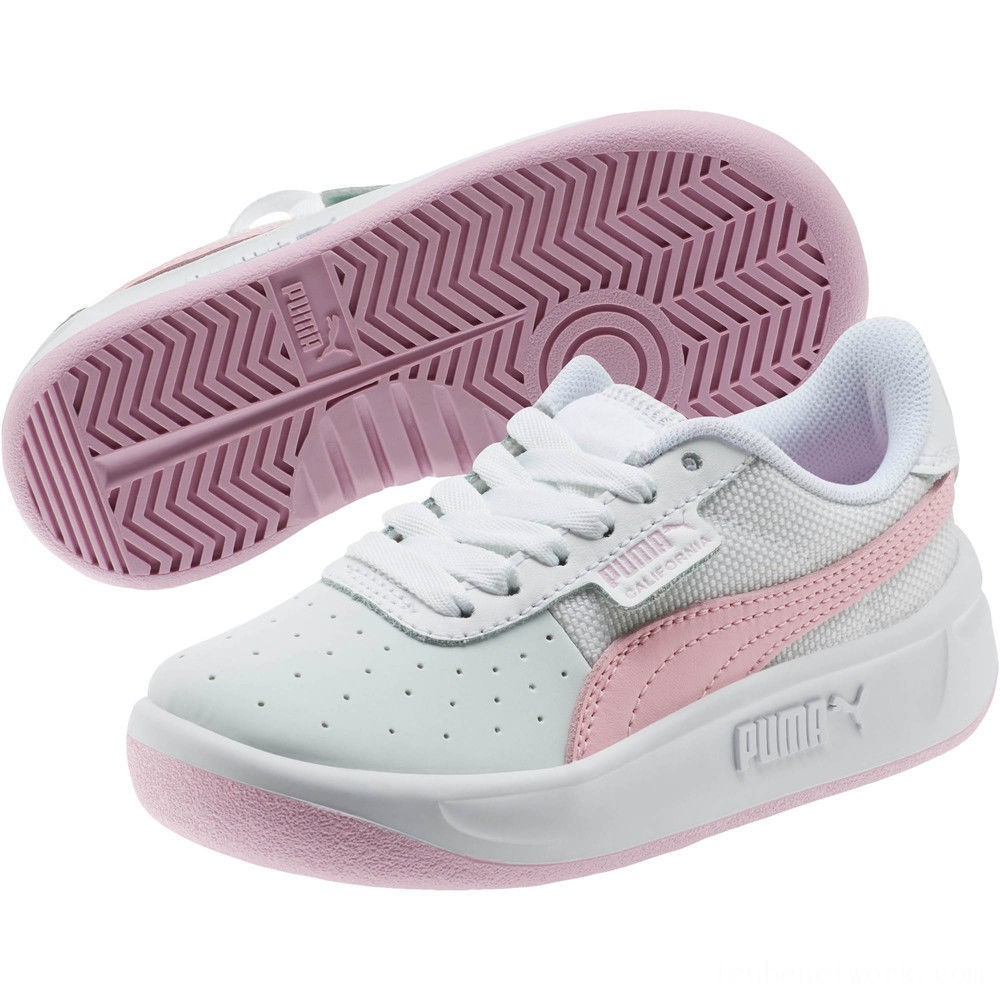 Puma California Sneakers PS Wht-Pale Pink- Wht Outlet Sale