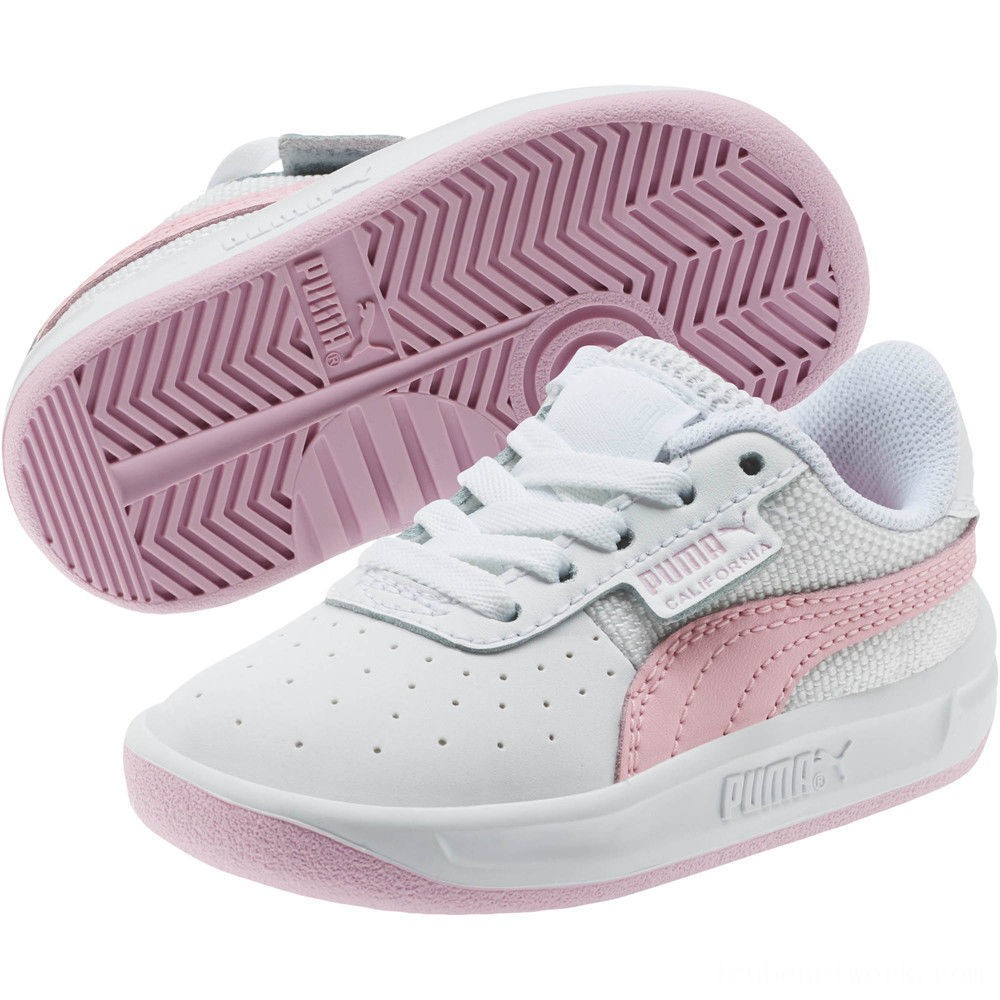 Puma California Sneakers INF Wht-Pale Pink- Wht Outlet Sale