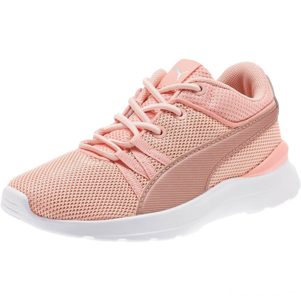 Puma Adela Spark Girl's AC Sneakers PSPeach Bud-Rose Gold Outlet Sale