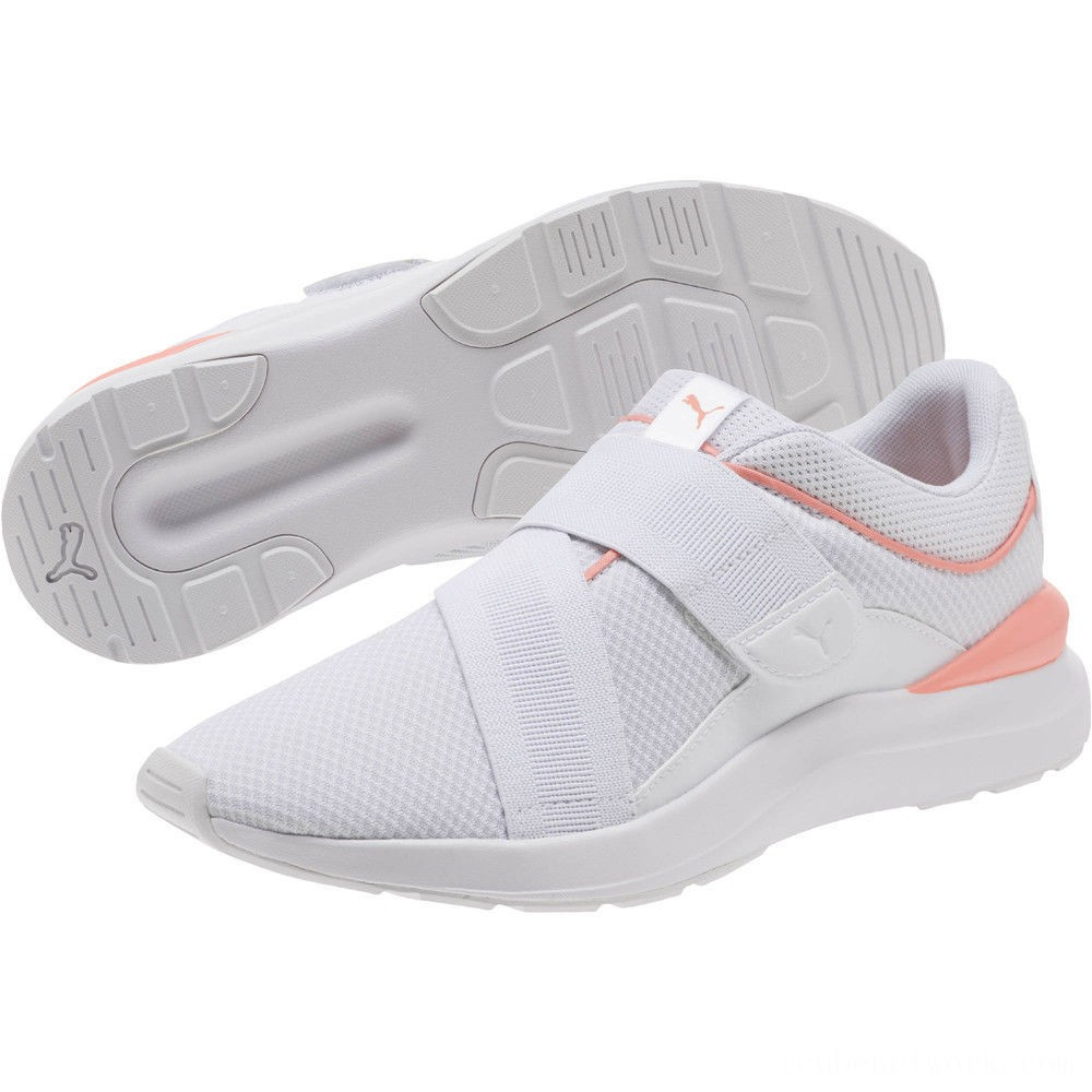 Black Friday 2020 Puma Adela X Women's Sneakers White-Peach Bud Outlet Sale