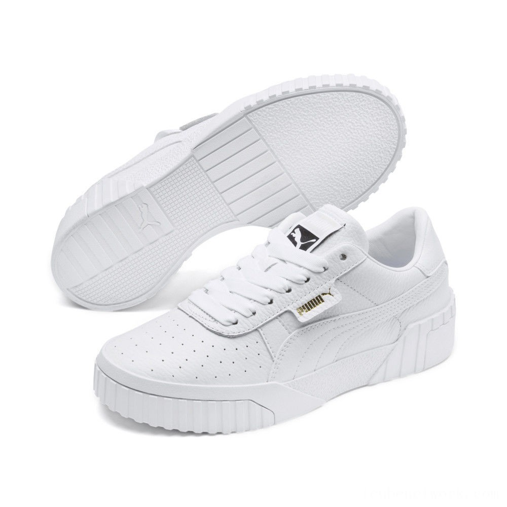 Black Friday 2020 Puma Cali Women's Sneakers White- White Outlet Sale